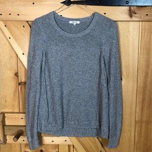 Madewell Tops - madewell | grey lightweight longsleeve knit top